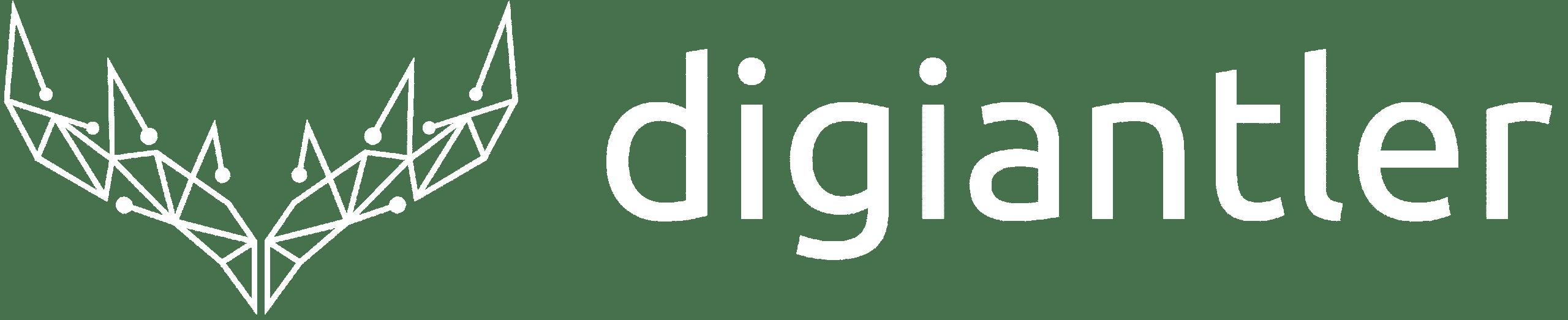 DigiAntler white logo